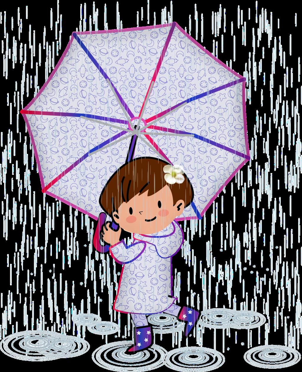 雨の日の女の子