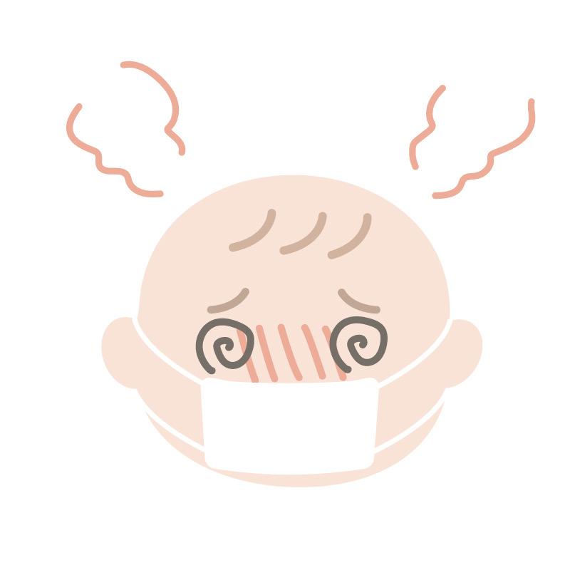 風邪を引いた子供のイメージ画像