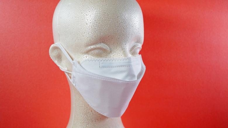 KF94マスクを装着した状態